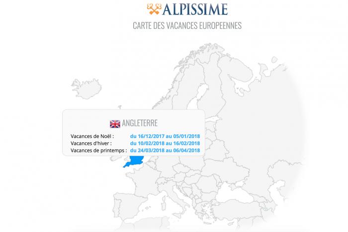 Calendrier des vacances scolaires en Europe - Enfin une carte interactive !