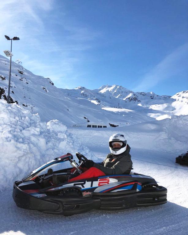 conduite sur glace débutants et initiés, val thorens, station de ski,