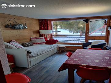 :Les Arcs 1800-Appartement skis aux pieds équipé 5 personnes